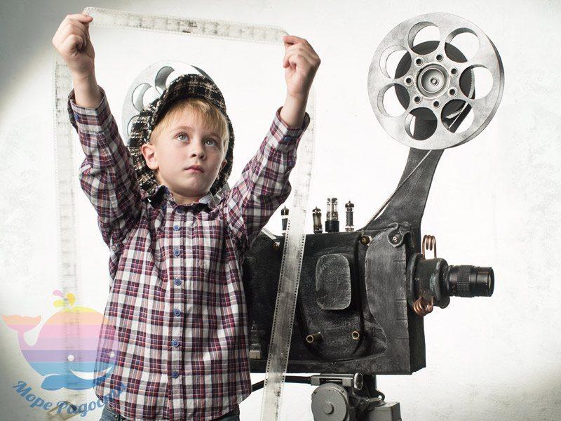 детский праздник в стиле снимаем кино