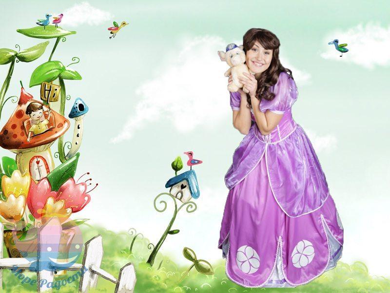 принцесса софия на детский праздник девочке